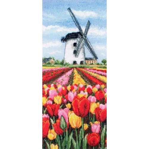 Paisaje Holandés con Tulipanes