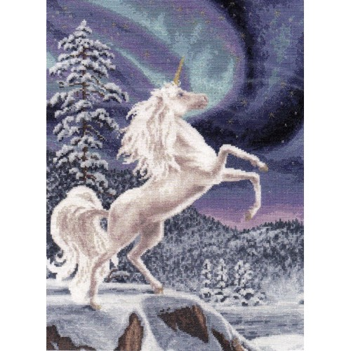 Unicornio y Aurora Boreal