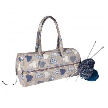 Bolsa para Labores Corazones Patch Azul