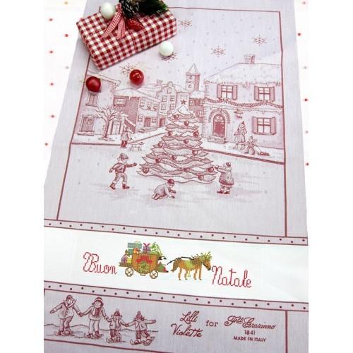Paño de Cocina Navidad El Pueblo Rojo