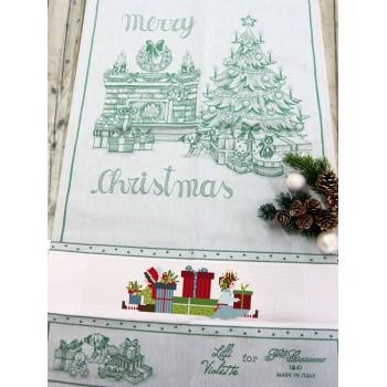 Paño de Cocina Navidad El Árbol de Navidad Verde