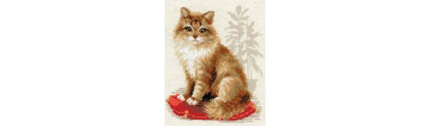 Kits de punto de cruz de gatos