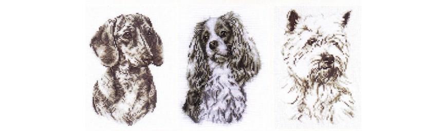 Gráficos de perros para bordar en punto de cruz.