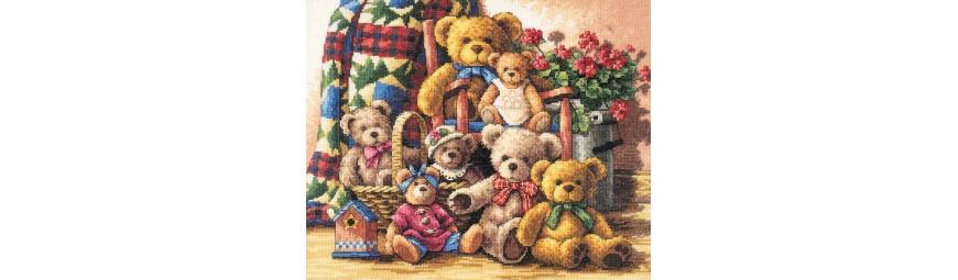 Kits de punto de cruz infantiles