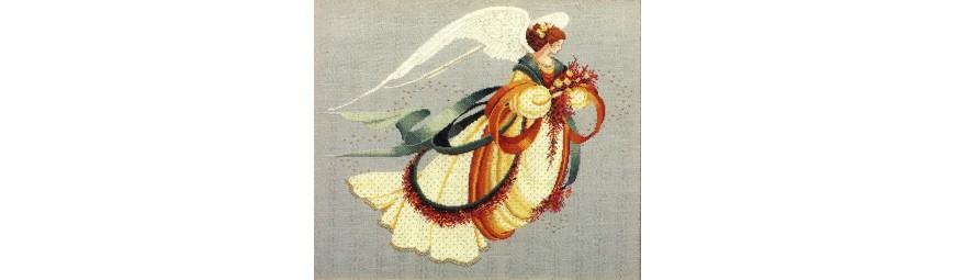 Gráficos o esquemas de ángeles, hadas, sirenas, damas, vírgen, cristo