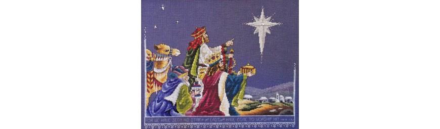 Esquemas de punto de cruz de motivos navideños y de Halloween