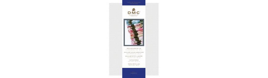 Carta de colores hilos mouliné DMC punto de cruz